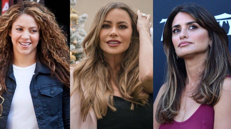 Shakira, Sofia Vergara y Penélope Cruz.  (Getty/Cordon Press)