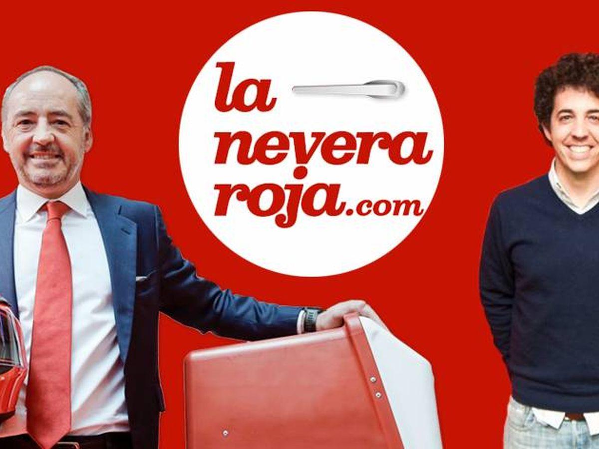 Foto: El presidente de Telepizza, Pablo Juantegui (i), junto al cofundador de La Nevera Roja, su hijo Íñigo Juantegui.