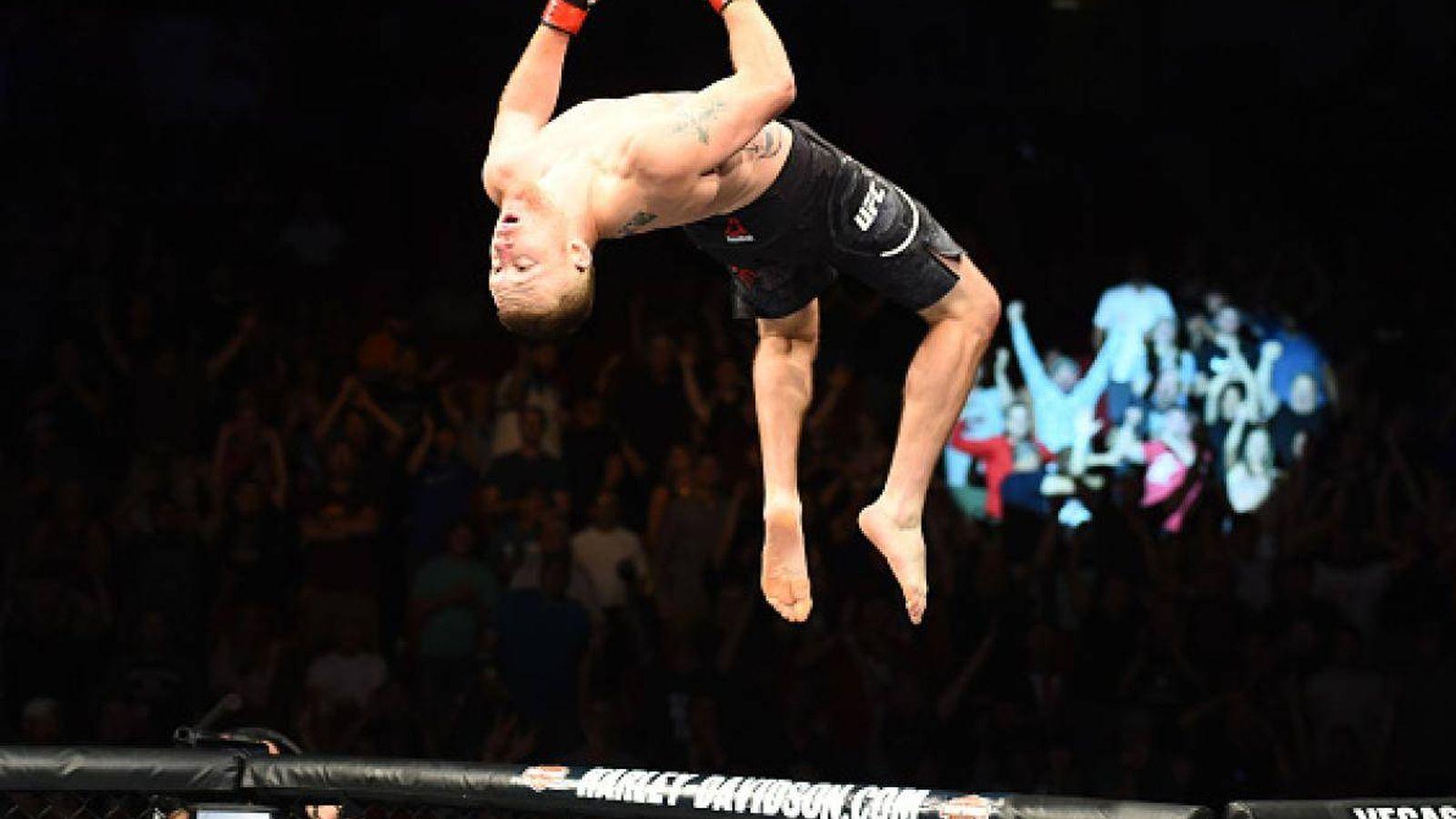Foto: Así celebró Justin Gaethje su victoria en UFC Lincoln. (UFC)