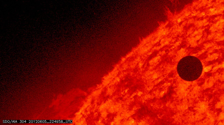 Tránsito de Venus capturado por el observatorio solar de la NASA SDO (NASA)