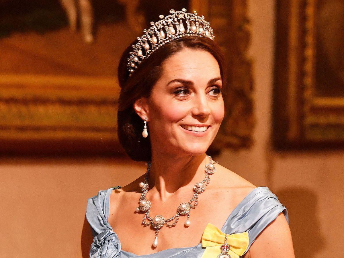 Foto: Kate Middleton, con su tiara preferida en una imagen de archivo. (Reuters)