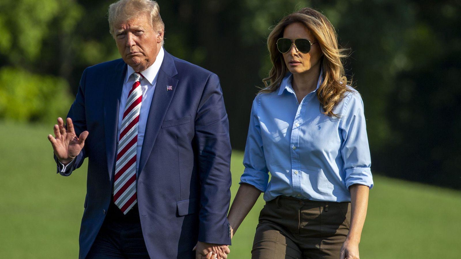 Foto: El presidente de EEUU, Donald Trump, y la primera dama, Melania Trump. (Reuters)