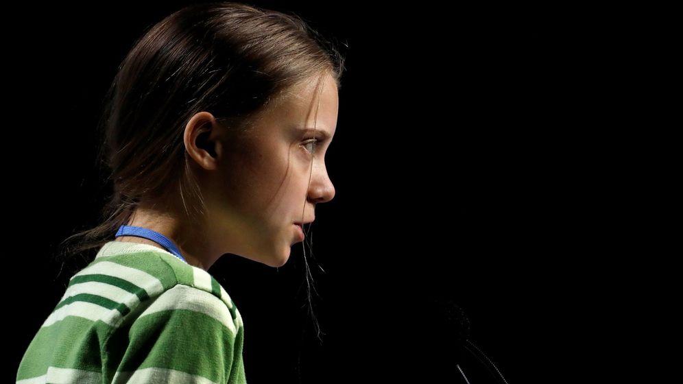 Foto: La activista sueca Greta Thunberg durante el plenario de la Cumbre Climática (Reuters)