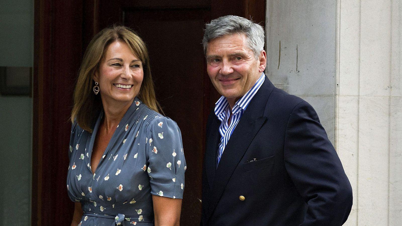 Foto: Los padres de Kate Middleton. (EFE)