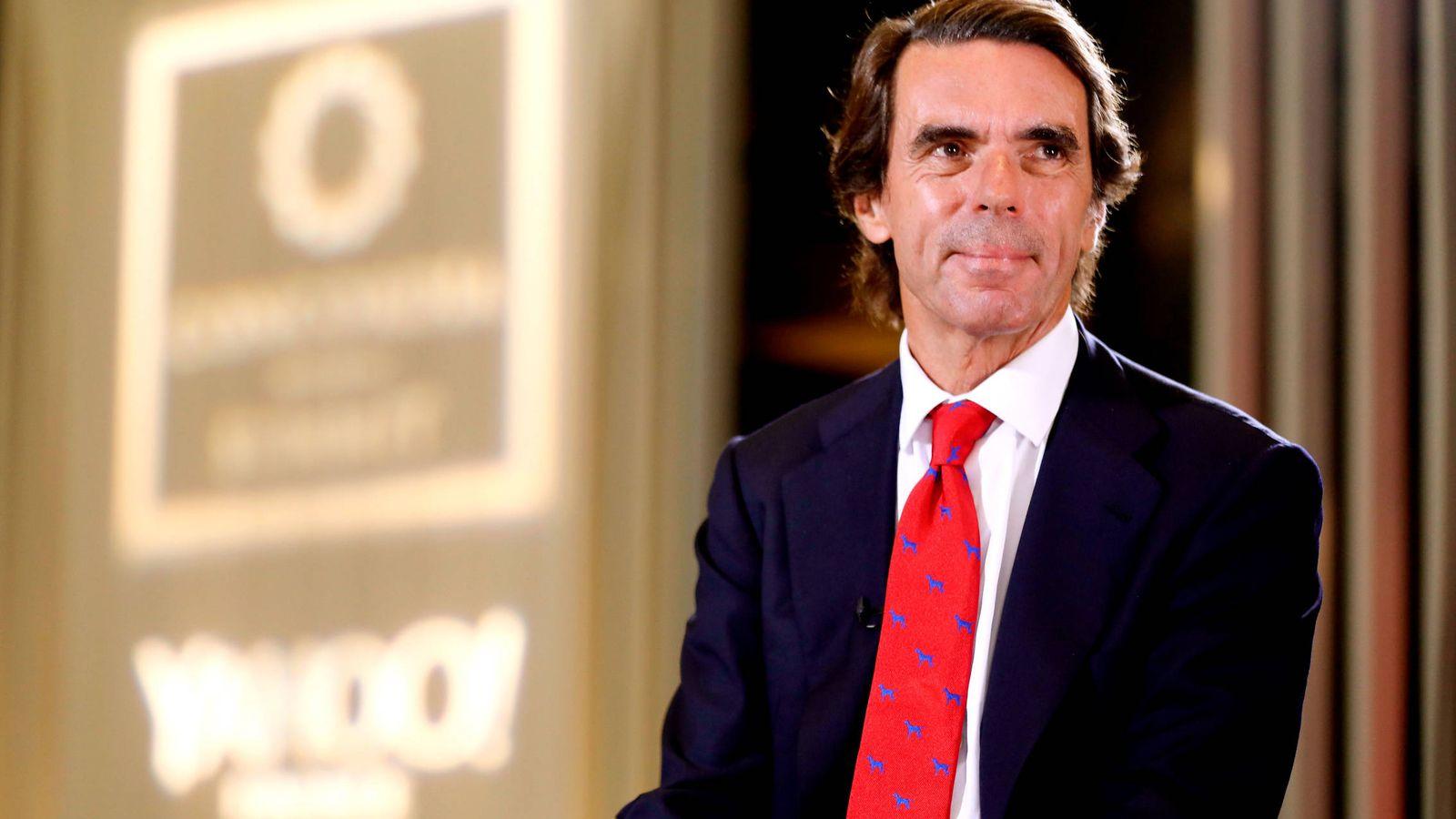 Foto: José María Aznar, en un congreso. (Getty)