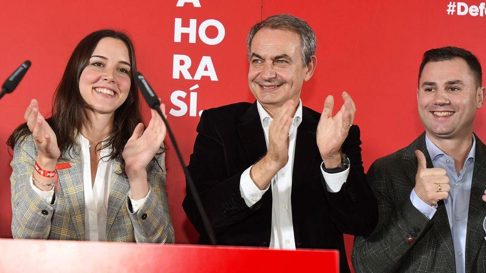 Foto:  El expresidente del Gobierno José Luis Rodríguez Zapatero durante un acto de campaña del 10-N. (EFE)