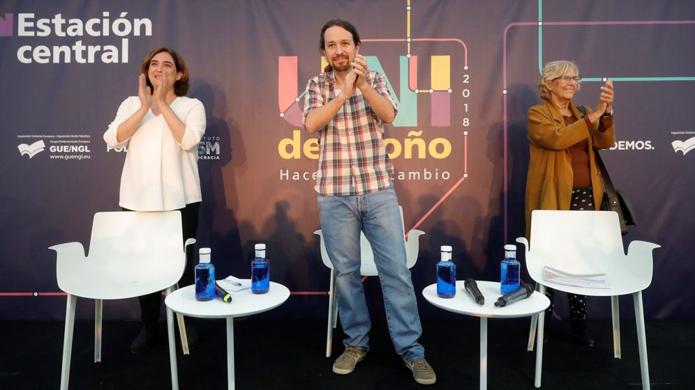 Foto: Pablo Iglesias y Manuela Carmena. (EFE)