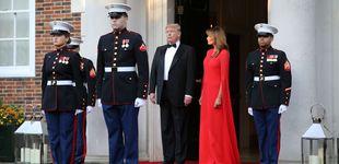 Post de Melania Trump deslumbra de rojo en su cena como anfitriona en Londres