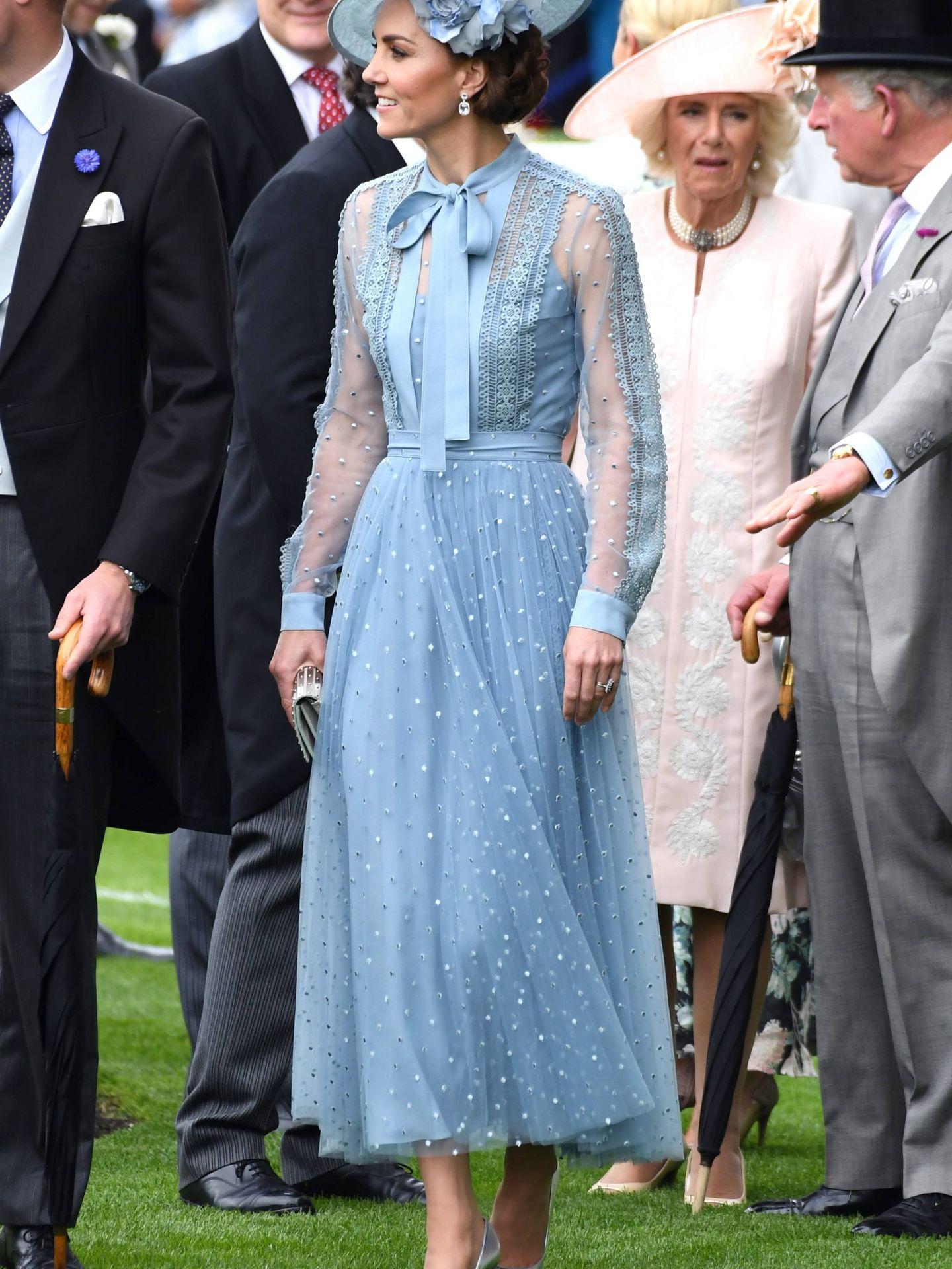 Kate Middleton, con su diseño de Elie Saab en Ascot. (Cordon Press)