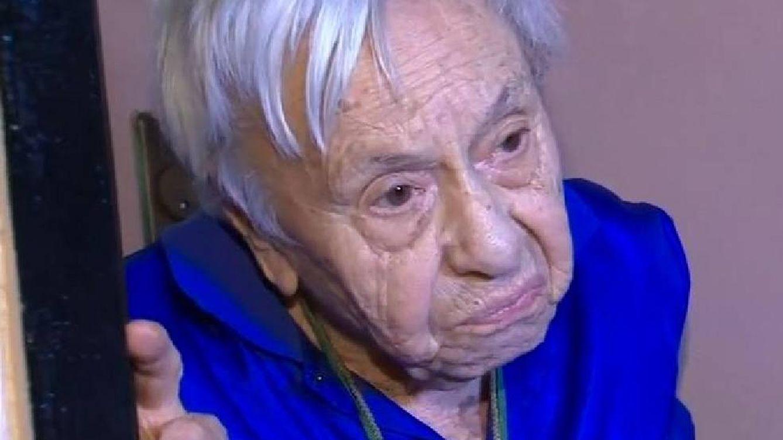 Foto: La que seguramente sea una de las personas más ancianas del mundo. (ABC7 Nueva York)