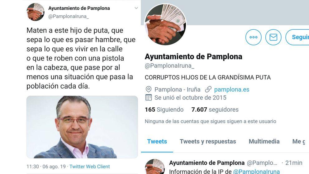 Hackean el Twitter del ayuntamiento de Pamplona y amenazan a su alcalde