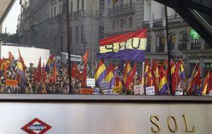 Protestas a favor de la República