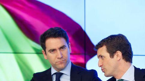 Casado y García Egea ya están en la sede del PP para seguir el recuento electoral
