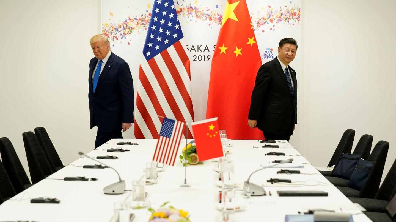Donald Trump (i) y Xi Jinping, durante un encuentro. (Reuters)