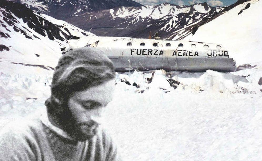 Foto: Roberto Canessa, en los Andes tras el accidente.