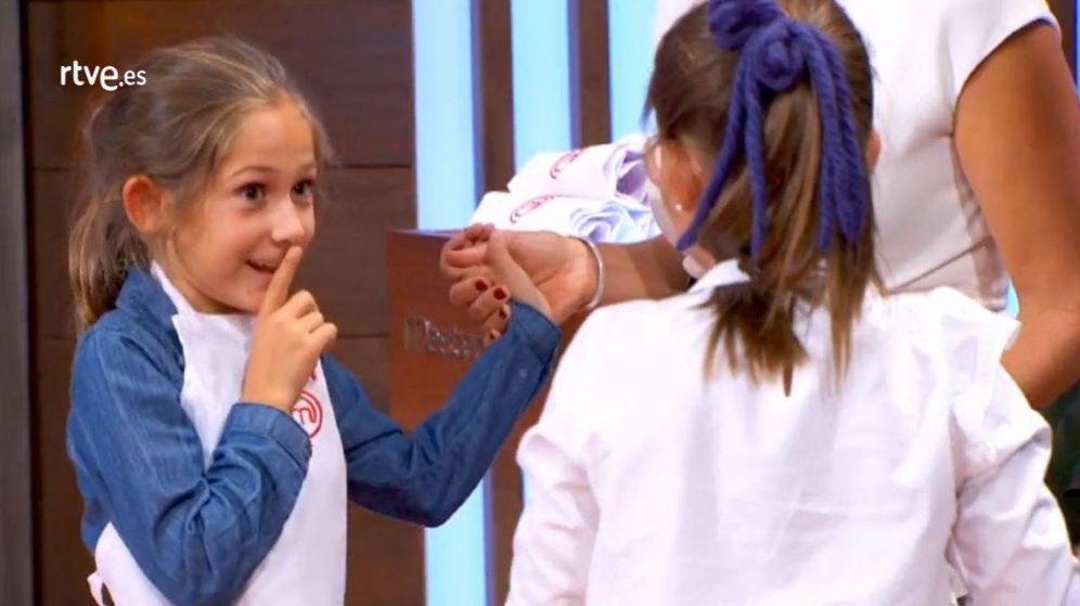 Foto: María, de 'MasterChef Junior', confiesa que es prima de Miguel Ángel Muñoz.