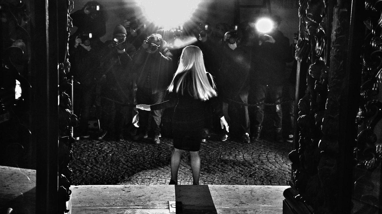 Donatella, en un desfile en Paris. (Getty)