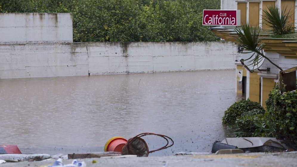 Foto: Vista del Club California inundado tras las lluvias que han anegado Málaga. (EFE)