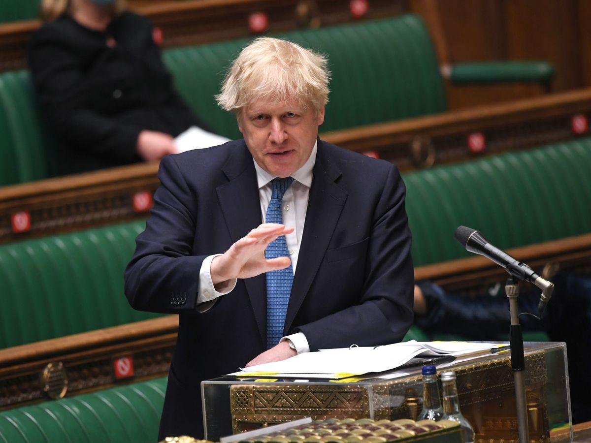 Foto: El primer ministro británico, Boris Johnson, en el Parlamento (Reuters)