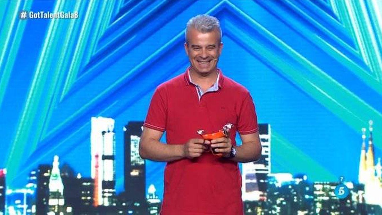 Daniel, tras su actuación en 'Got Talent España'. (Telecinco)