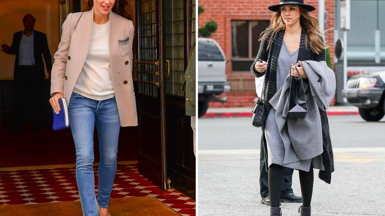 Muchas son las famosas que dicen sí al cashmere para sus looks más básicos.  (Pinterest)