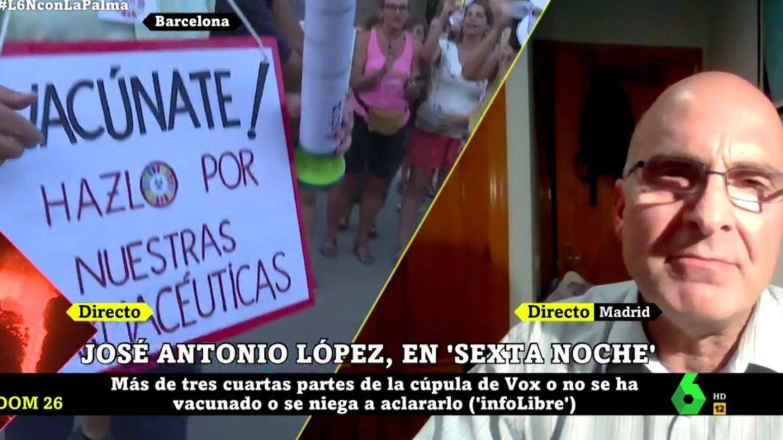 José Antonio López, en 'La Sexta noche'. (Atresmedia).