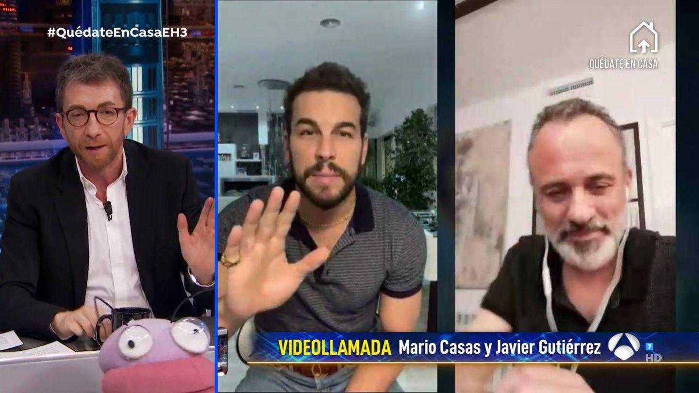 Pablo Motos, Mario Casas y Javier Gutiérrez. (Atresmedia)