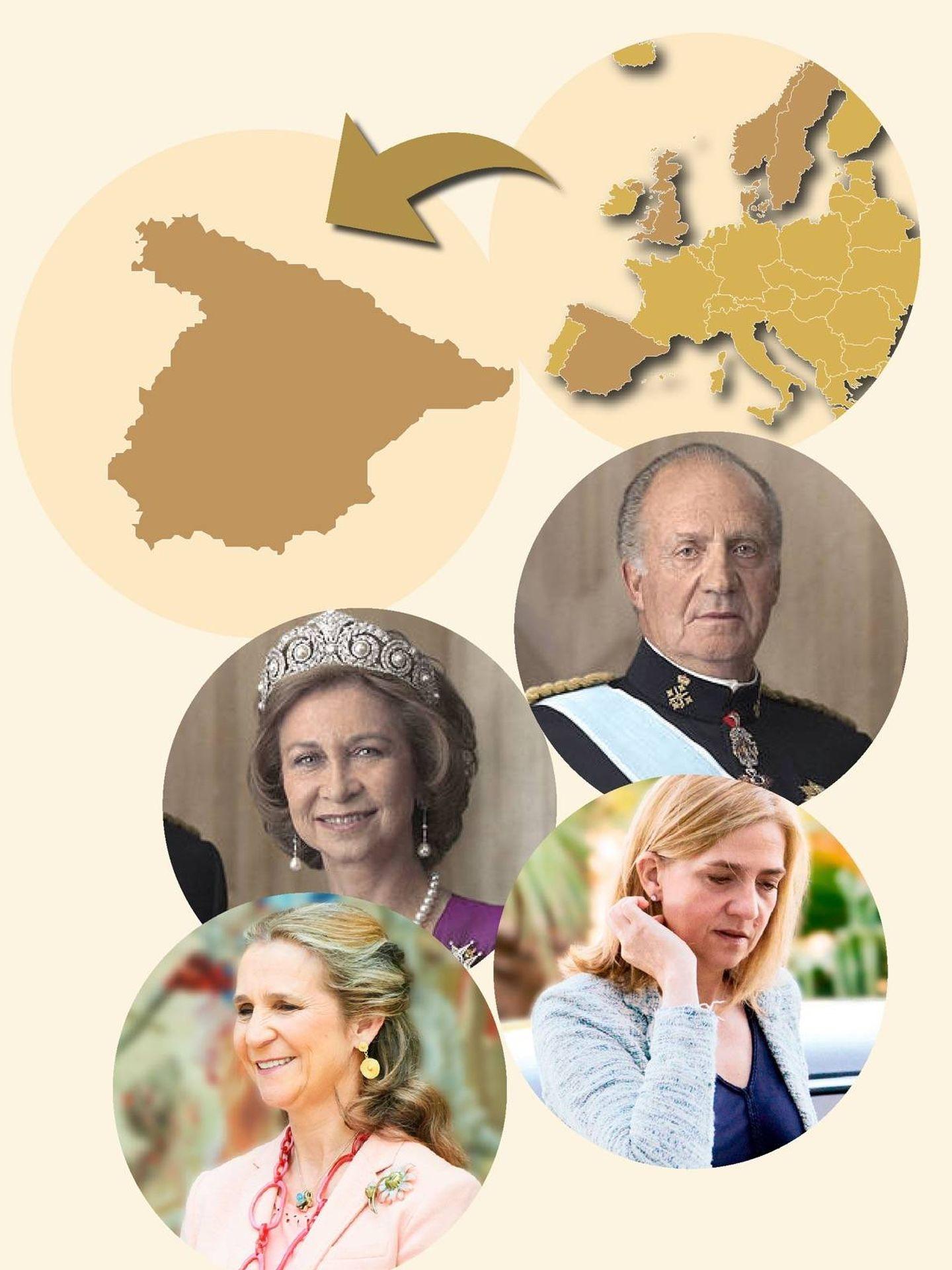 Mapa de los royals vacunados en Europa. (Vanitatis)