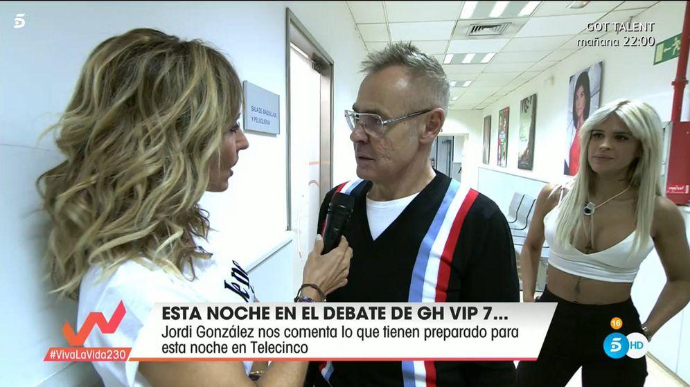 Foto: Emma García y Jordi González, en 'Viva la vida'. (Telecinco)