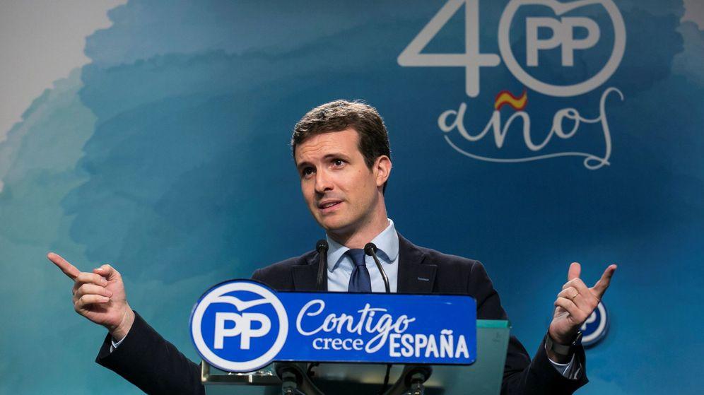 Foto: Pablo Casado, en rueda de prensa   EFE