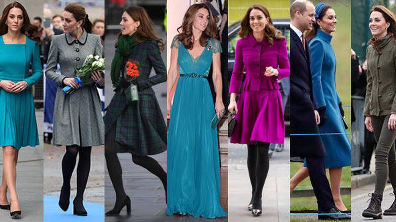 La duquesa con modelos repetidos. (Getty)