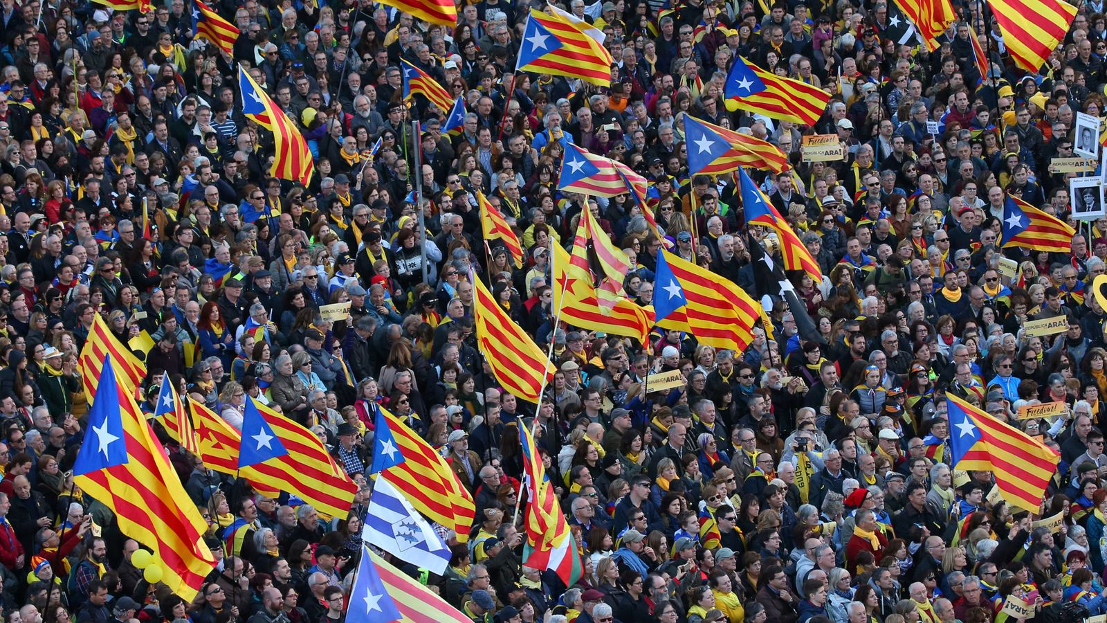Foto: Manifestaciones en Barcelona. (Reuters)