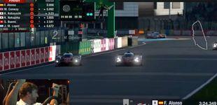 Post de Fernando Alonso gana al Gran Turismo (en carreras locas) a sus compañeros de Toyota