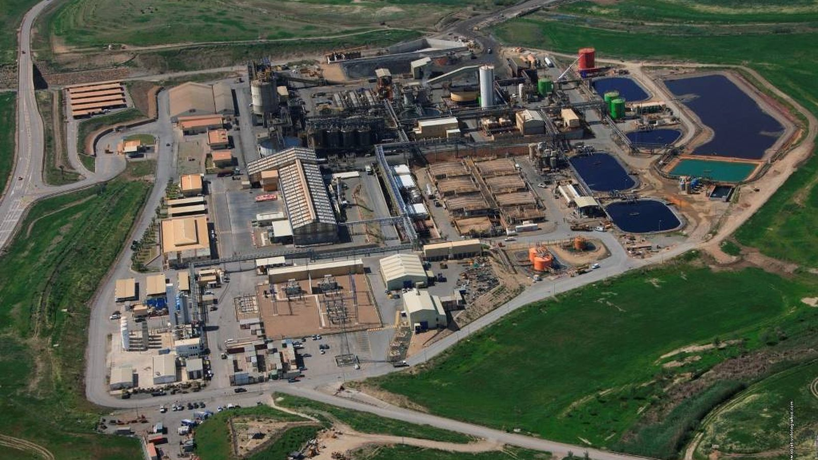 Foto: Vista de la planta minera Cobre Las Cruces, al norte de Sevilla. (CLC)