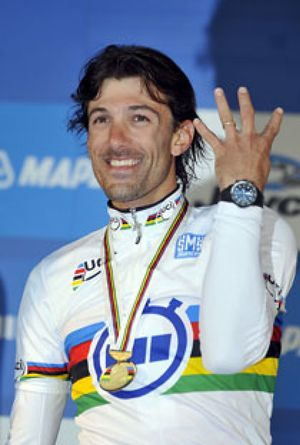 Fabian Cancellara, campeón del mundo de contrarreloj por cuarta vez