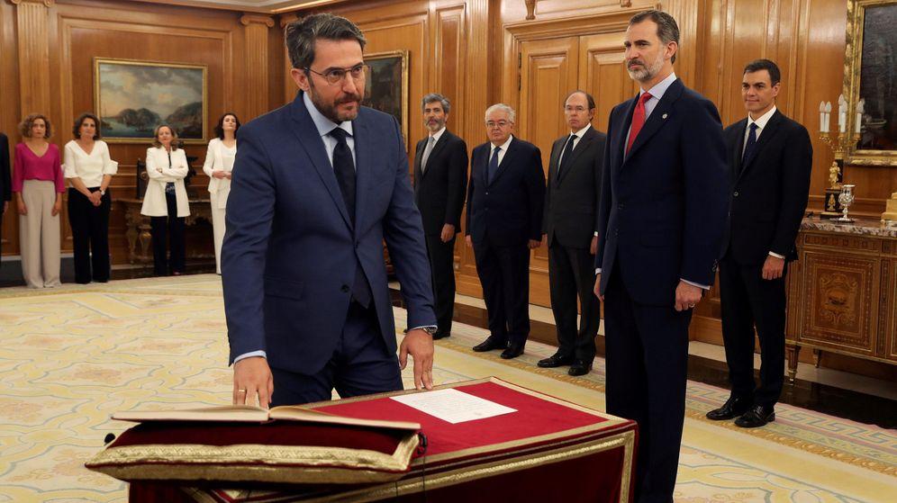 Foto: Màxim Huerta en la toma de posesión como ministro de Cultura y Deporte. (Reuters)