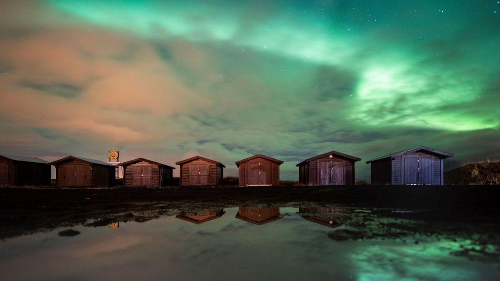 Foto: Auroras boreales en islandia