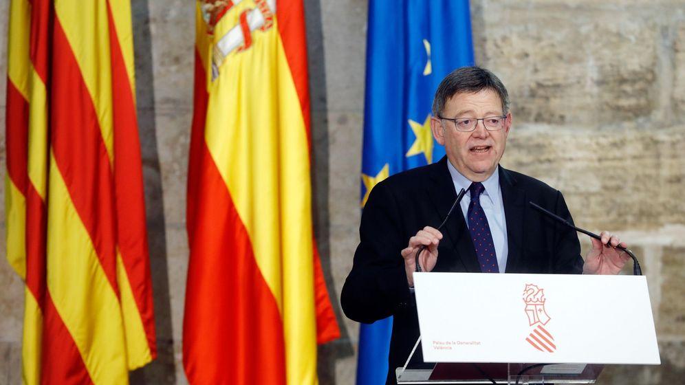Foto: El president de la Generalitat, Ximo Puig, durante la presentación de la nueva Sociedad de Garantía Recíproca de la Comunitat Valenciana (SGR-CV). (EFE)