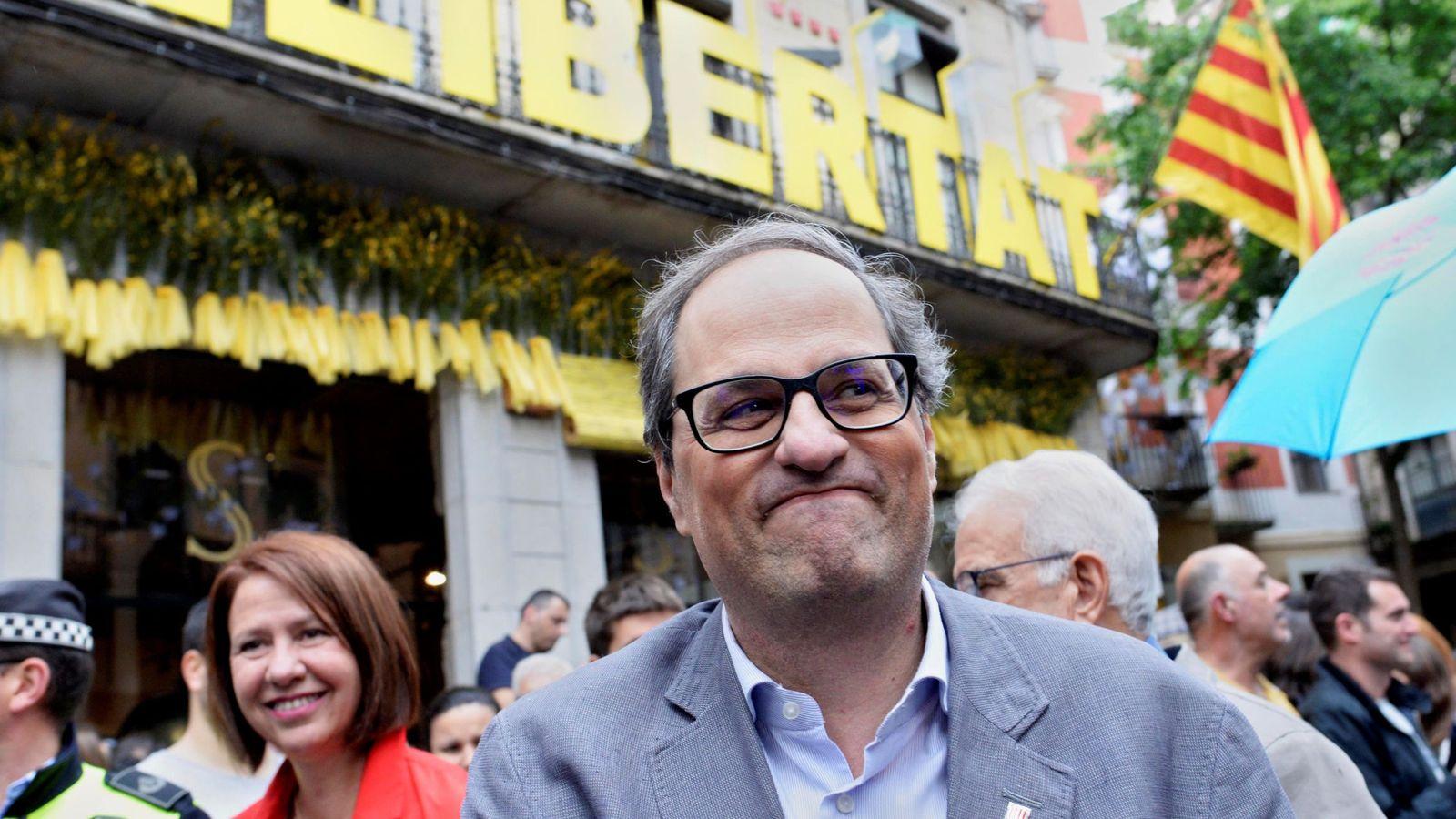 Foto: Torra visita el certamen 'Temps de flors' de Girona este sábado. (EFE)