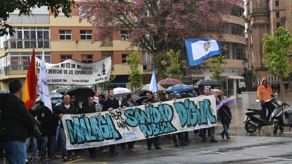 Foto: Marcha de la sanidad en Málaga. (Toñi Guerrero)
