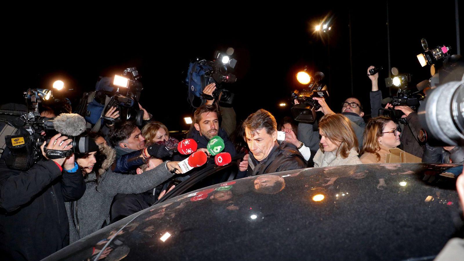 Foto: Ignacio González a su salida de prisión