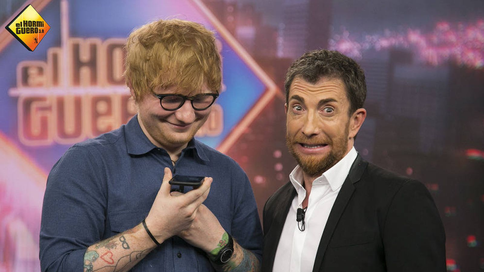 Foto: Ed Sheeran y Pablo Motos en 'El hormiguero'. (Atresmedia Televisión)