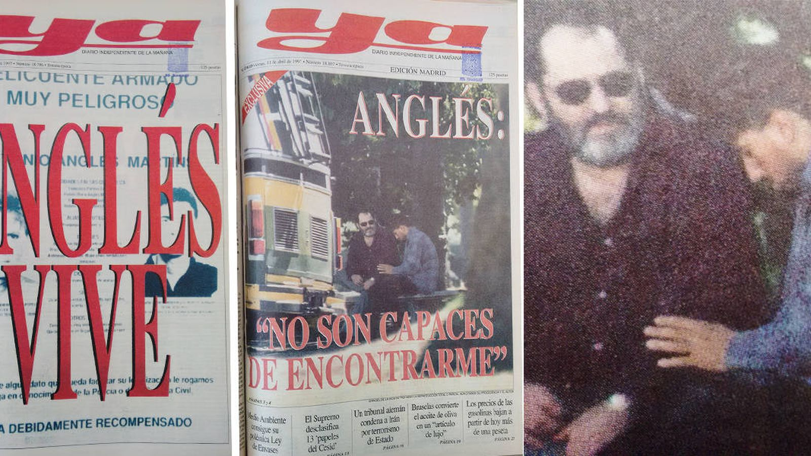Foto: El doble de Anglés con Rodríguez Menéndez en la portada del 'Ya' (montaje: Enrique Villarino)