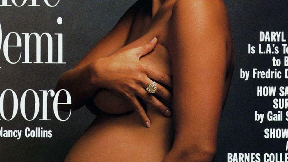 Amaia Salamanca emula a Demi Moore posando embarazadísima