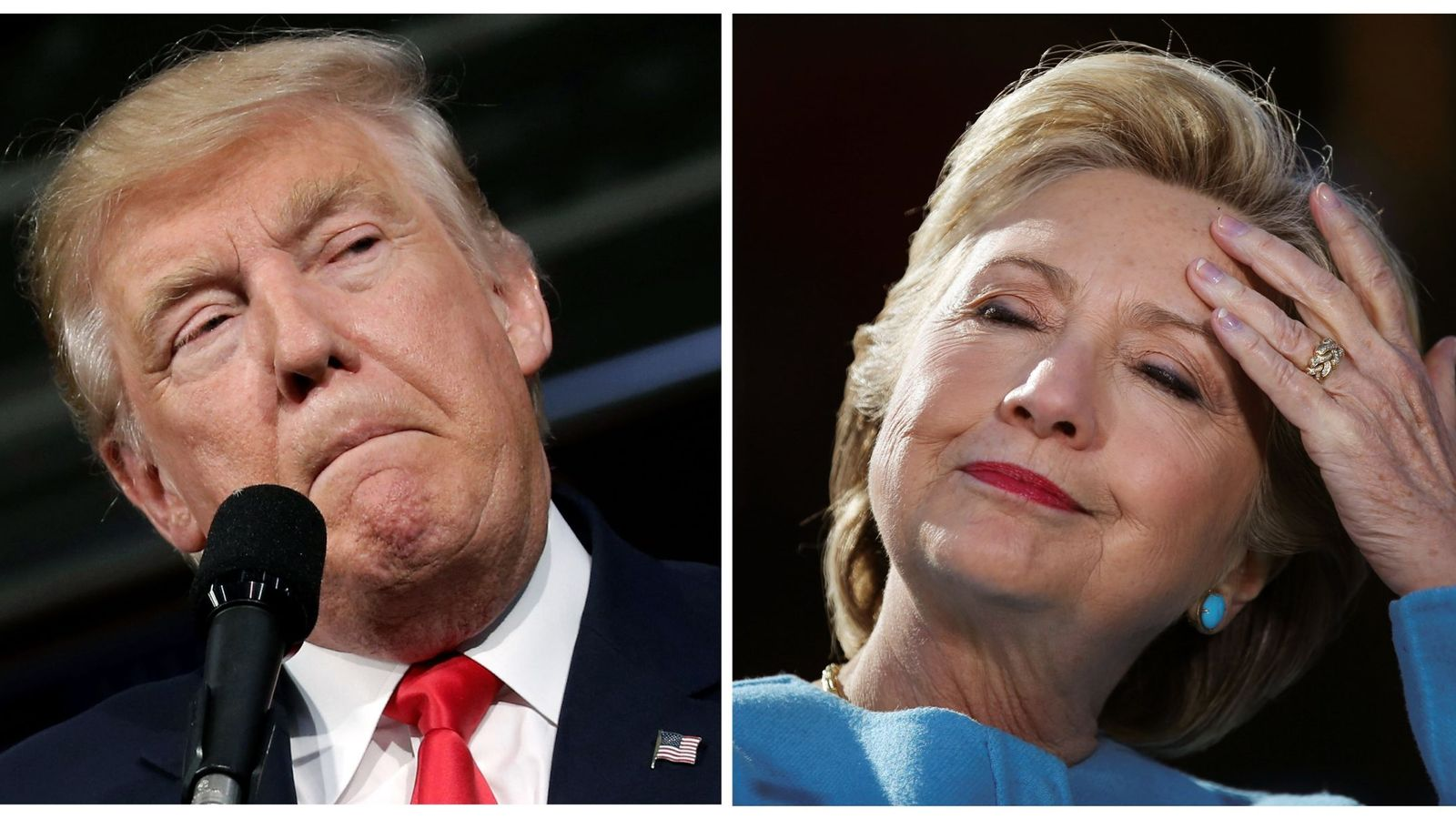 Foto: Donald Trump y Hillary Clinton. (Reuters)