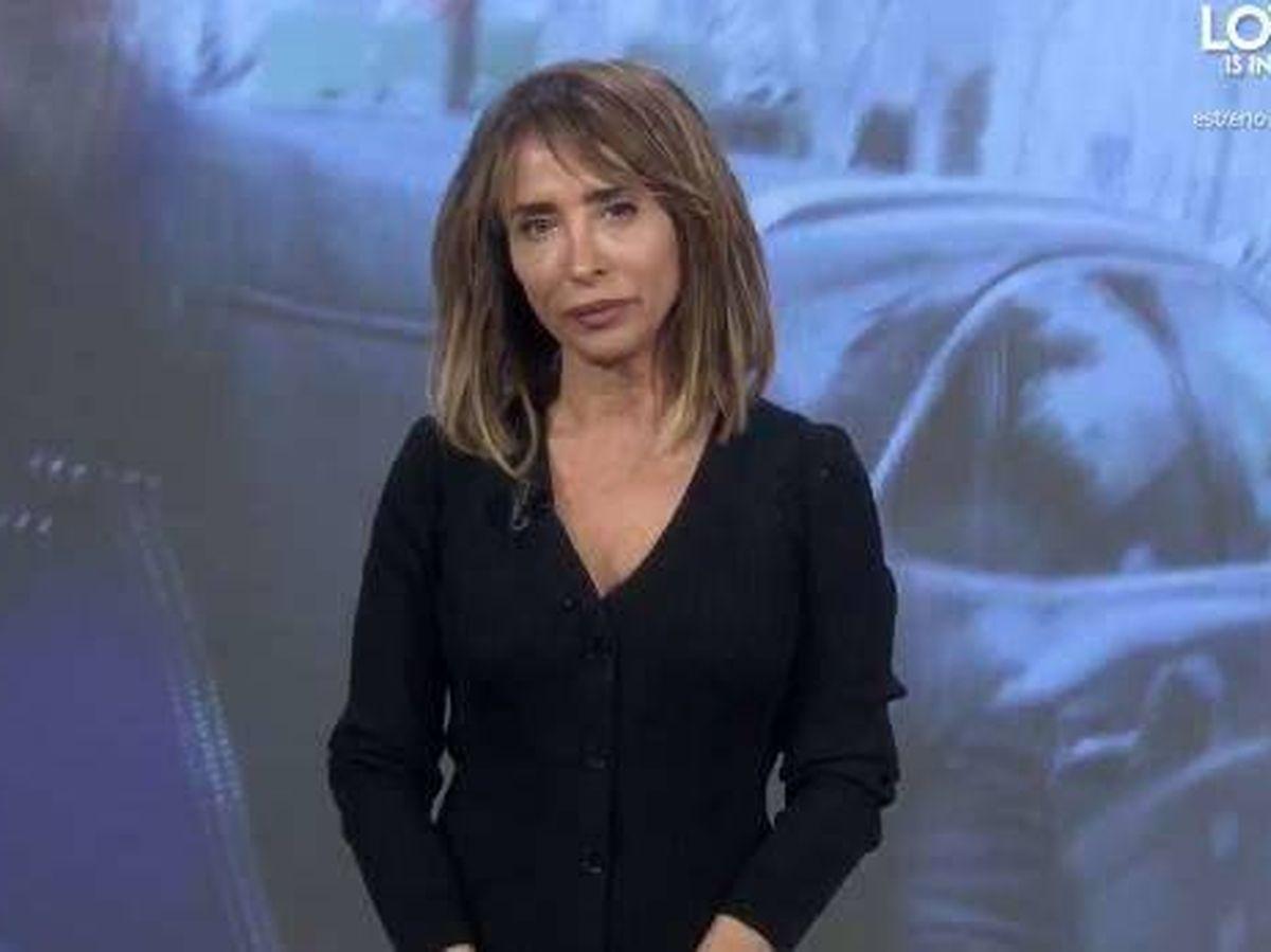 Foto: María Patiño, en 'Socialité'. (Telecinco)