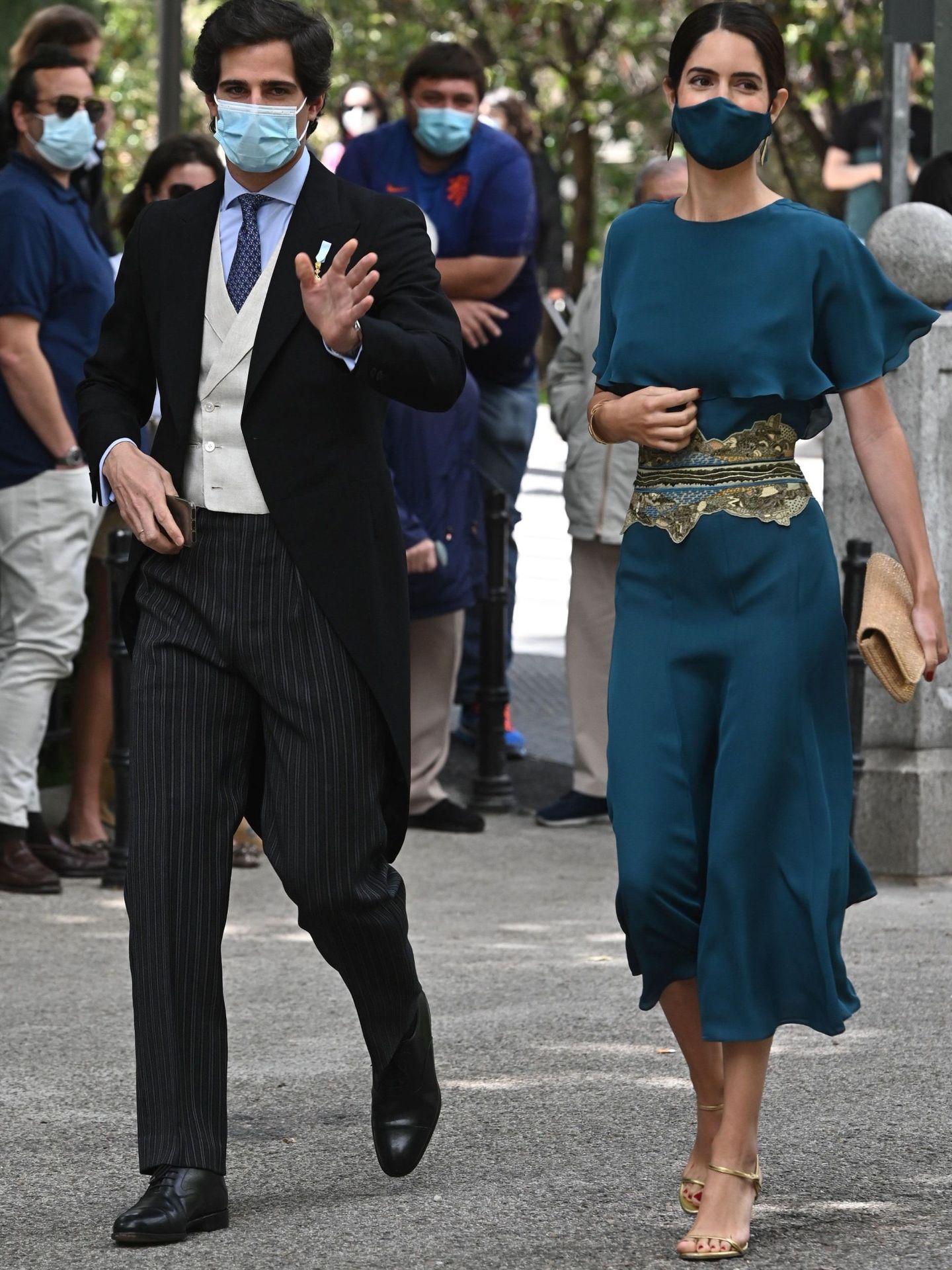 Sofía Palazuelo en la boda de su cuñado Carlos Fitz-James Solís. (EFE)