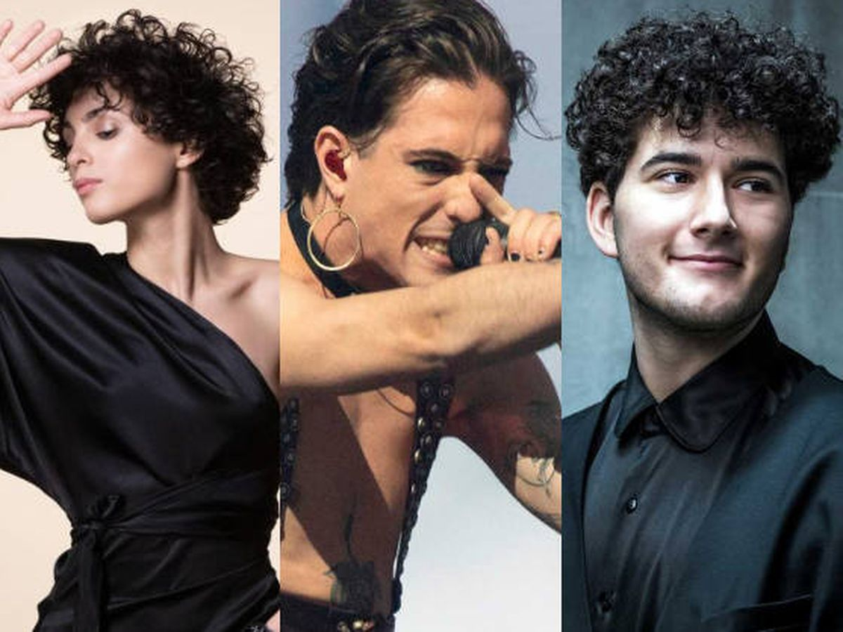 Foto: Los representantes de Francia, Italia y Suiza en Eurovisión. (UER)