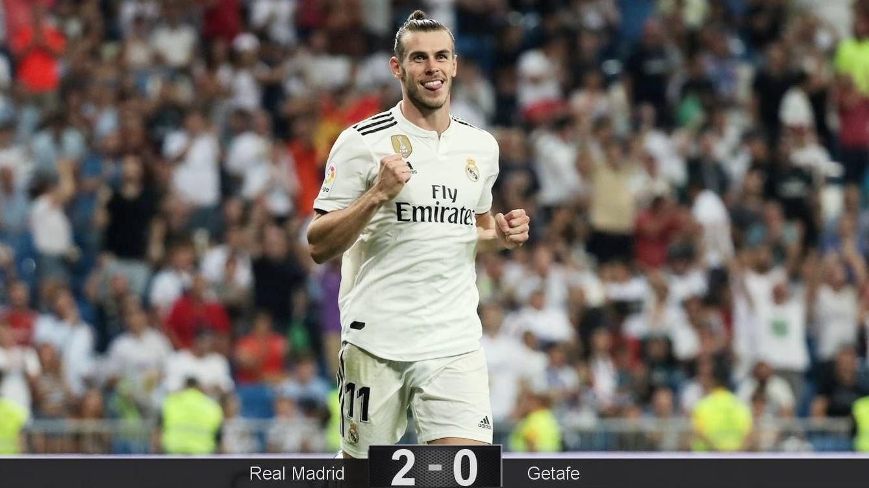Foto: Gareth Bale, feliz, después de marcar al Getafe en el estreno liguero de Lopetegui. (Reuters)