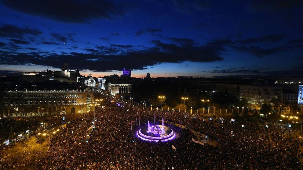El 8-M sigue creciendo: más de 550.000 manifestantes entre Madrid y Barcelona